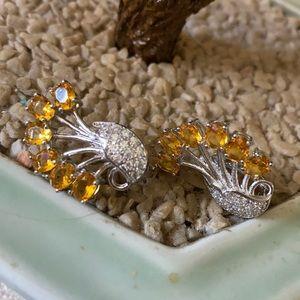 Vintage 925 citrine earring
